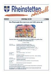 Nummer 27 Donnerstag, 3. Juli 2008 7. Jahrgang - Stadt Rheinstetten