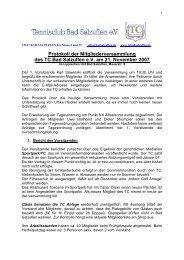 Protokoll der Mitgliederversammlung des TC Bad Salzuflen e.V. am ...