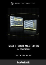 MD3 PowerCore Manual English - TC Electronic