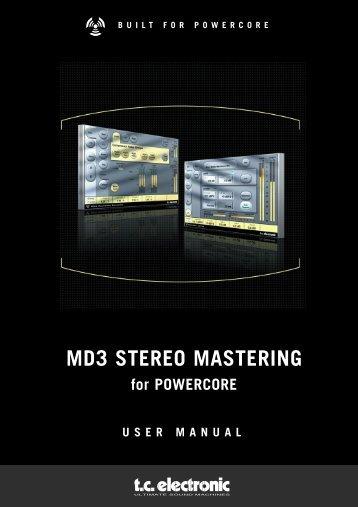 MD3 PowerCore Manual English - TC Electronic