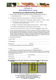 Anmeldung Winter 12-13 TC Bad Aibling - Tennisschule Jarda