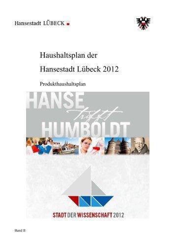 Haushaltsplan 2012 Band 2 - Hansestadt LÜBECK