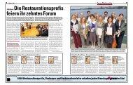 Jubiläum:DieRestaurationsprofis ... - Hotellerie et Gastronomie Verlag