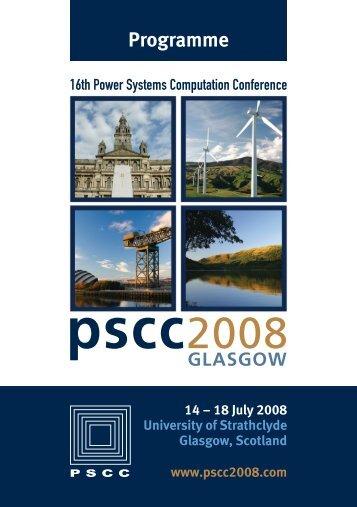 Conference Programme PSCC 2008, Glasgow