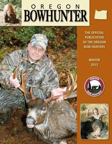 OBH Magazine Winter Edition - Oregon Bow Hunters
