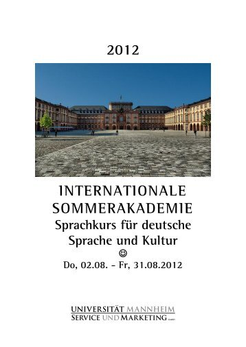 Sommerakademie Aktivitäten (www.daf.uni-mannheim.de)