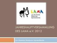 Präsentation - LAMA Verein