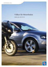 Villkor för Motorfordon - Länsförsäkringar
