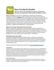 Neue Taxi-App für Dresden - BetterTaxi