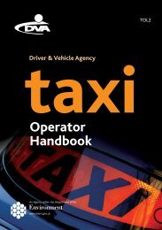 Taxi Operator handbook TOL2 - Driver and Vehicle Agency