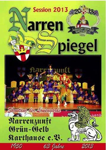 Narrenzunft Grün-Gelb Karthause 1950 eV - Herzlich willkommen ...
