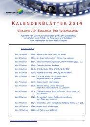 Jahrestage 2014 (PDF, 494 KB) - PROGRESS Film-Verleih
