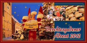 Veranstaltungen am Berchtesgadener Advent 2012