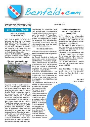 Benfeld magazines for Meubles kranklader