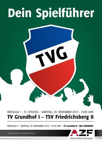 TV Grundhof I – TSV Friedrichsberg II - visuellverstehen ...