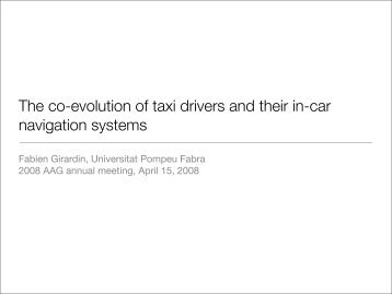 The co-evolution of taxi drivers and their in-car navigation systems