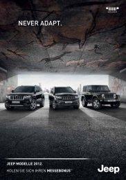 Die Jeep Modelle 2012