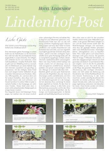Liebe Gäste - Hotel Lindenhof