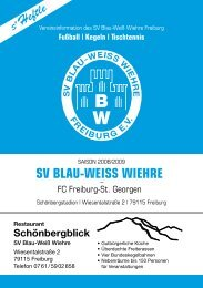 Fahrdienst Wespiser · 0761 7070888 - SV Blau-Weiss-Wiehre