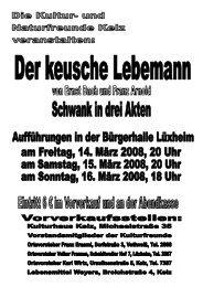 Der keusche Lebemann - Schwank in drei Akten - Lüxheim