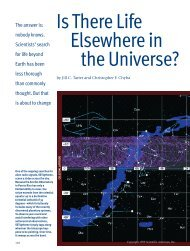 Is There Life Elsewhere in the Universe? - University of Arizona