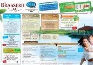 Le menu du restaurant et menus groupes - Lac de Caniel