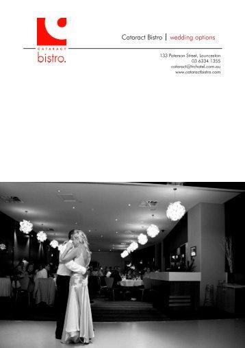 Cataract Bistro wedding options