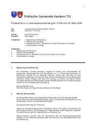 Politische Gemeinde Herdern TG