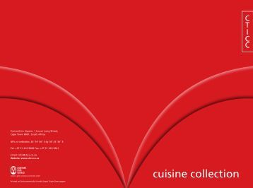 cuisine collection - Cape Town International Convention Centre
