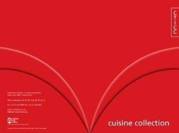 cuisine collection - Cape Town International Convention Centre