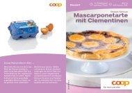 Mascarponetarte mit Clementinen - Coop@Home