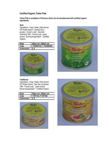 Certified Organic Tartex Pate