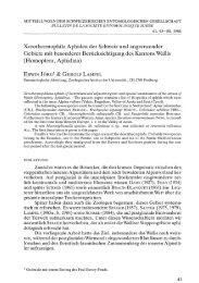 Xerothermophile Aphiden der Schweiz und angrenzender Gebiete ...