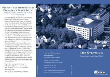 Die Stiftung - Lukas-Krankenhaus Bünde