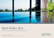 Pauschalangebote und Anwendungen 2012 - Hotel Heiden
