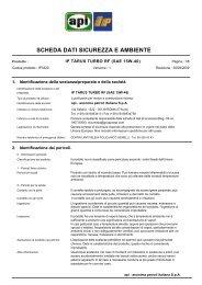 SCHEDA DATI SICUREZZA E AMBIENTE - Tondini.net