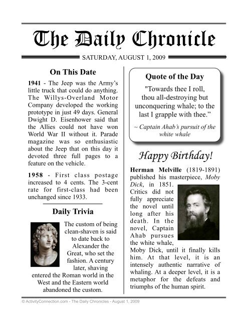 photograph relating to Free Printable Birthday Chronicle named The Day-to-day Chronicle - Video game Partnership