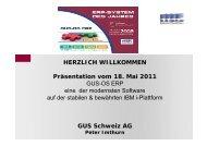 GUS Schweiz AG - IBM