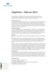 Vegolistan – Februari 2013 - Vegokoll