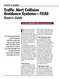 Traffic Alert Collision Avoidance Systems—TCAS - Aircraft ...