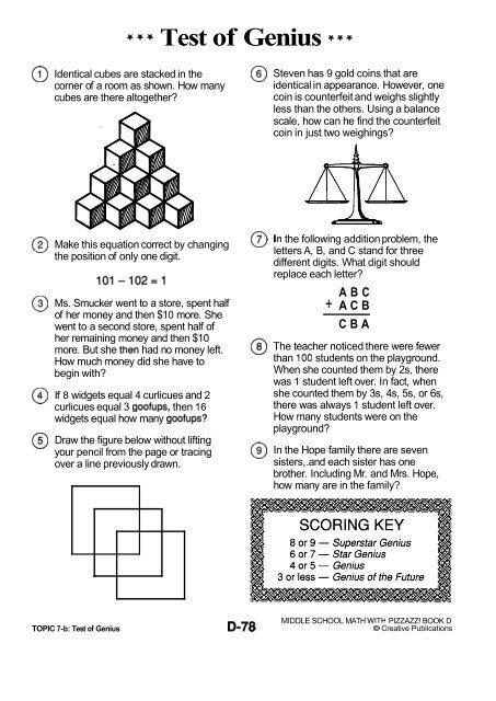 Test of Genius +++ @