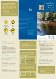 Huon River Anglers Access - Inland Fisheries Service