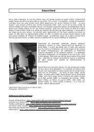 Biographie des participants - Théâtre de Poche