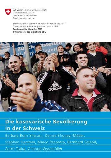 Die kosovarische Bevölkerung in der Schweiz - Bundesamt für ...
