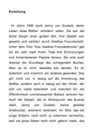 Einleitung Im Jahre 1890 starb Jenny von Gustedt, deren ... - BookRix