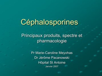 Céphalosporines - Infectiologie