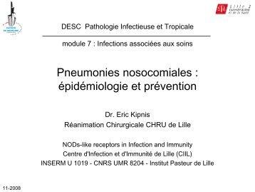 Pneumonies nosocomiales : épidémiologie et ... - Infectiologie