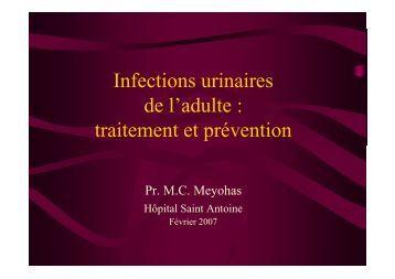 inf.urinaires adulte - Meyonas - Infectiologie