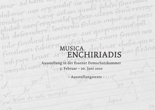 Musica enchiriadis - Domschatz