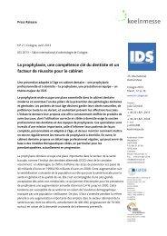 La prophylaxie, une compétence clé du dentiste et un facteur ... - IDS